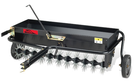Brinly 40 inch aerator-spreader attachment