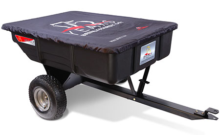 tow-behind poly dump cart