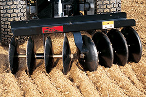 disk harrow attachment adjustable working width