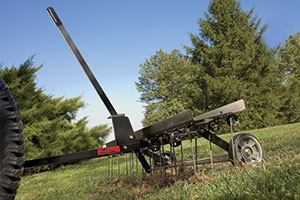 Brinly lawn tractor dethatching attachment