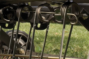 steel triple coil spring dethatcher tines
