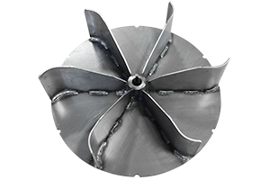 solid steel impeller