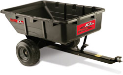 lawn tractor poly cart attachment