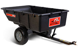 lawn tractor poly trailer attachment