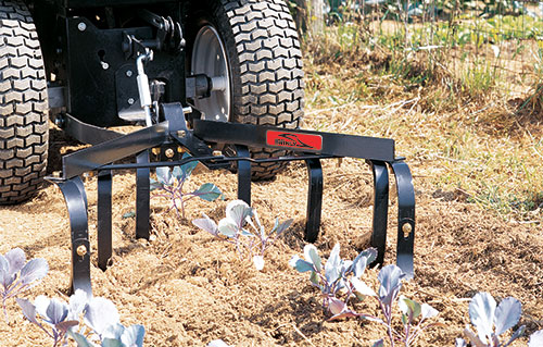 Brinly sleeve hitch garden tractor cultivator
