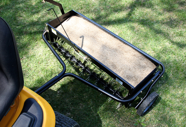 Aerating and Overseeding with Brinly Attachments