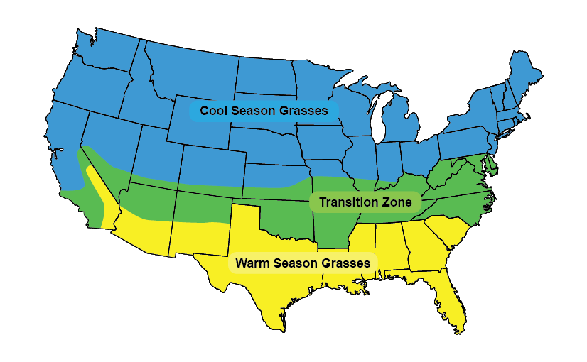 cool season grass map